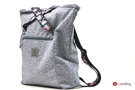 1527959808Torebka damska ladybag.pl torebki sportowe damskie du e torby miejskie ladybag.pl IMGP1558.jpg Lady Active Two-in-One plecak XL cashmere waterproof jasnoszary + róże