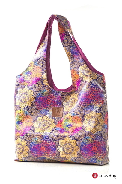 Hobo Lady Duo ZIP Gold Mandala + wrzos