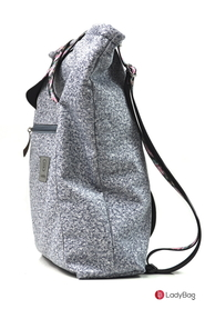 1527959810Torebka damska ladybag.pl torebki sportowe damskie du e torby miejskie ladybag.pl IMGP1560.jpg  Lady Active Two-in-One plecak L cashmere waterproof jasnoszary + róże